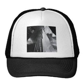 New York City Skyscraper in Black and White Mesh Hat