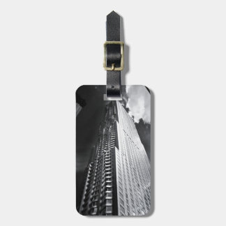 New York City Skyscraper in Black and White Luggage Tag