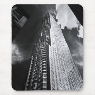 New York City Skyscraper in Black and White Mouse Pad