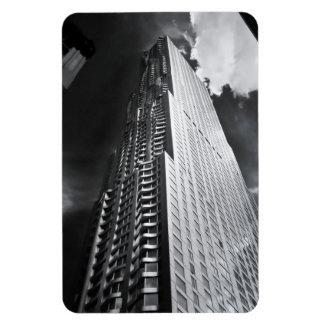 New York City Skyscraper in Black and White Rectangular Photo Magnet