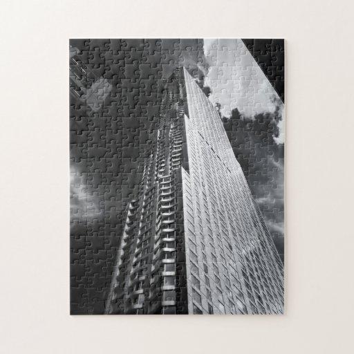 New York City Skyscraper in Black and White Puzzle