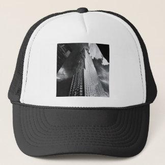 New York City Skyscraper in Black and White Trucker Hat