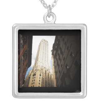 New York City Skyscraper Reaching Towards the Sky Silver Plated Necklace