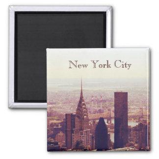 New York City Skyscraper skyline 2 Inch Square Magnet