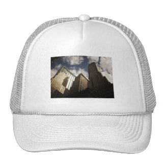 New York City Skyscrapers Against the Clouds Trucker Hats