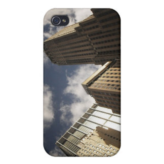 New York City Skyscrapers Against the Clouds iPhone 4 Covers