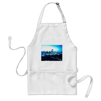 New York City Skyscrapers at Night Adult Apron