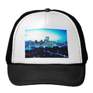 New York City Skyscrapers at Night Mesh Hats