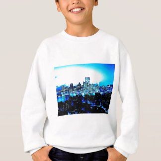 New York City Skyscrapers at Night Sweatshirt
