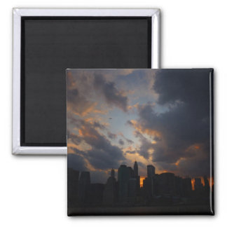 New York City Skyscrapers At Sunset Refrigerator Magnet