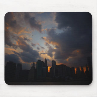 New York City Skyscrapers At Sunset Mouse Pads
