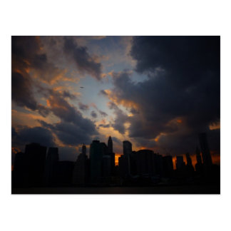 New York City Skyscrapers At Sunset Postcards