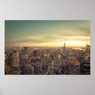 New York City Skyscrapers Skyline Cityscape Poster