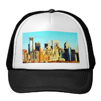 new york city skyscrapers trucker hats