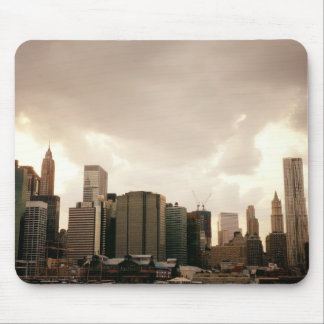 New York City Skyscrapers With Clouds Mousepad