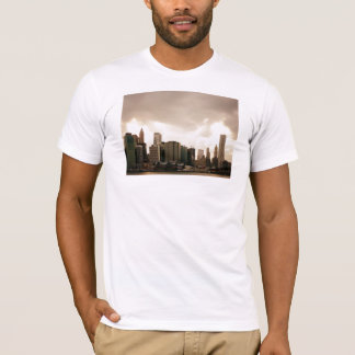 New York City Skyscrapers With Clouds T-Shirt