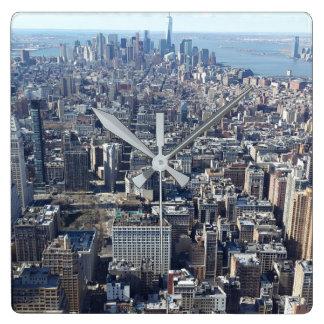 New York City Square Wall Clock