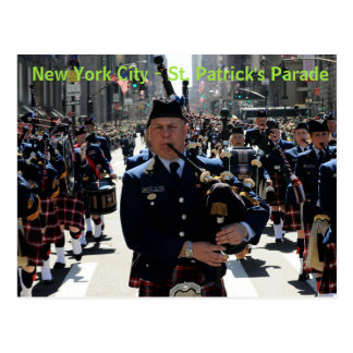 New York City St Patrick's Parade post card