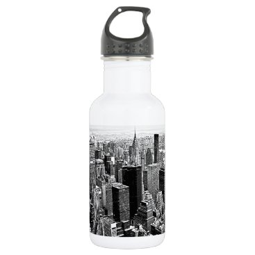 USA Themed New York City Stainless Steel Water Bottle