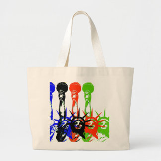 New York City-Statue of liberty Large Tote Bag