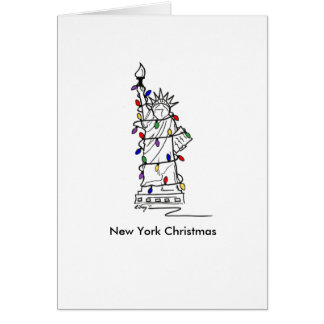 New York City Statue of Liberty NYC Christmas Card