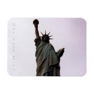 new york city statue of liberty rectangular photo magnet