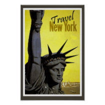 New York CIty Statue of Liberty Retro Vintage
