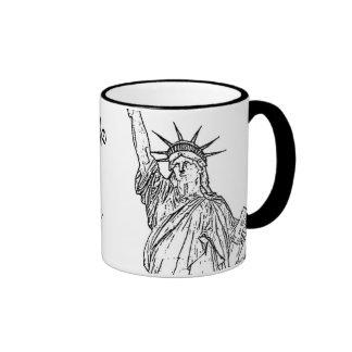 New York City ~ Statue of Liberty Ringer Mug