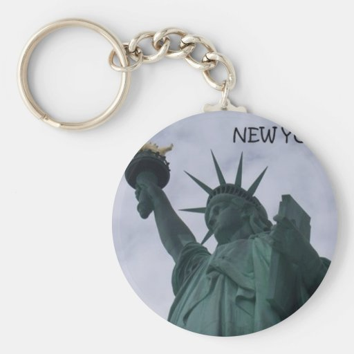 New York City Statue of Liberty (St.K) Basic Round Button Keychain