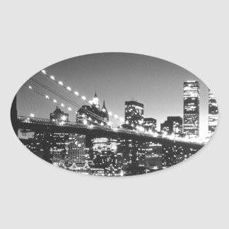 New York Cİty Oval Sticker