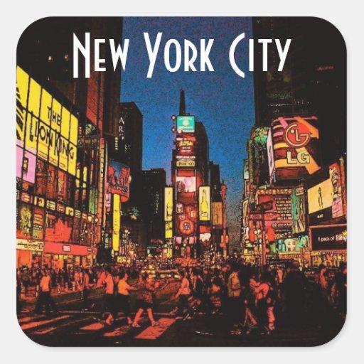 New york city sticker zazzle - Stickers porte new york ...