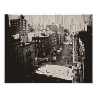 New York City Street From Above Photographic Print