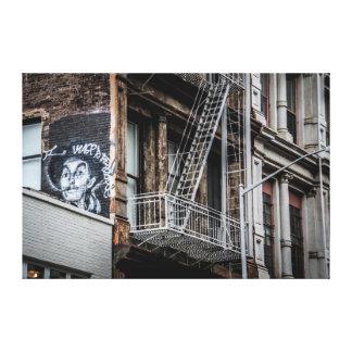 New York City Street Graffiti Photo Canvas Print