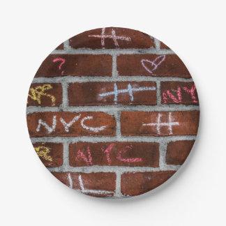 New York City Street Graffiti Photo Paper Plate