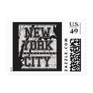 New York City | Street Map Postage