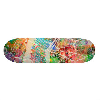 New York City Street Map Skateboard Deck