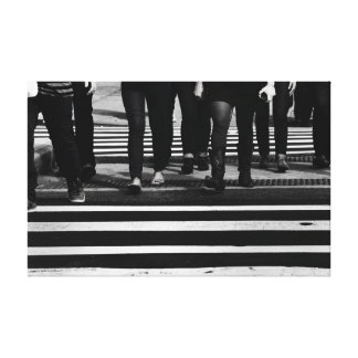 New York City Street Photo Stretched Canvas Prints