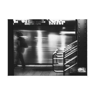 New York City Street/Subway Photo Stretched Canvas Prints