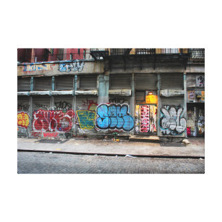 New York City Street Urban Photo Gallery Wrapped Canvas