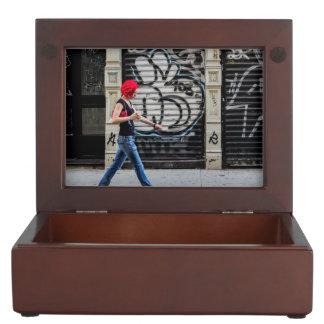 New York City Street Urban Photo Keepsake Boxes
