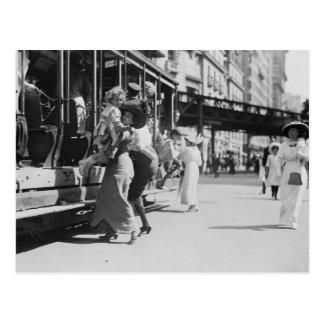 New York City Streetcar 1913 Tarjeta Postal