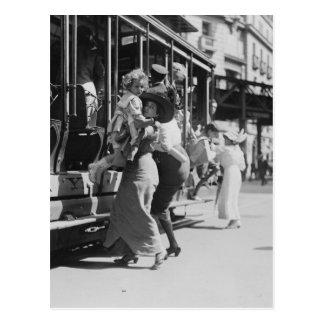 New York City Streetcar, 1913 Postal