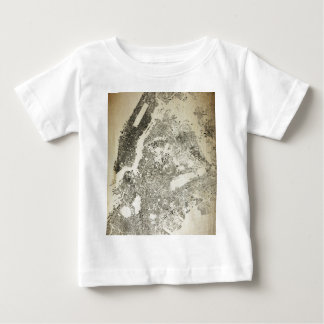 New York City Streets and Buildings Vintage Map Baby T-Shirt