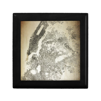 New York City Streets and Buildings Vintage Map Gift Box