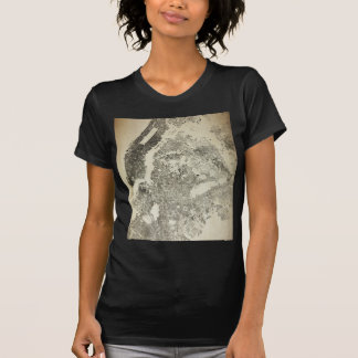 New York City Streets and Buildings Vintage Map T-Shirt
