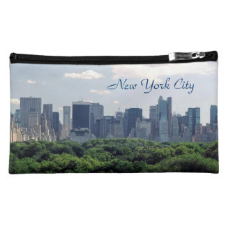 New York City Sueded Cosmetics / Pencil Case Cosmetic Bag