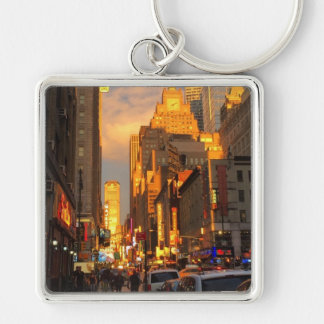 New York City Sunset Midtown Theatre District NYC Keychain