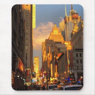 New York City Sunset Midtown Theatre District NYC Mouse Pad
