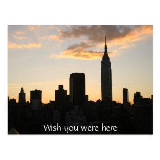New York City Sunset Postcard