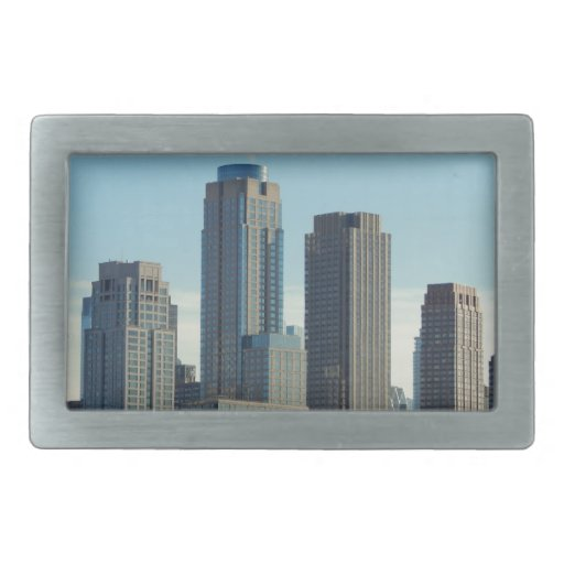 New York City Tall Buildings River View Belt Buckles